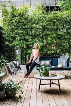 Our courtyard feature in the new Planted Magazine! Photographer: Hannah Blackmore - Stylist: Alana Langan #Moderngarden