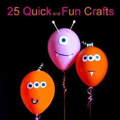 Need a little project for lazy summer days? 25 Quick and Fun Crafts...