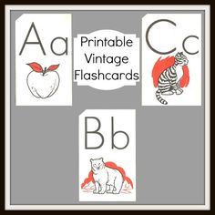 Antique Graphics Wednesday - Vintage Alphabet Flashcards - Knick Of Time