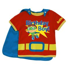 Super Why! Birthday Boy to the Rescue! Red Super Tee from PBS Kids Shop
