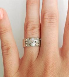 """Silver """"Love is Blind"""" Braille Ring"""