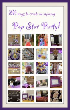 Pull out any silver and gold household items to add extra glam to your party. Pop Star Party, Fabric Backdrop, Birthday Numbers, Music Party, Music Notes, Best Part Of Me, Rock And Roll, Party Time, Party Favors