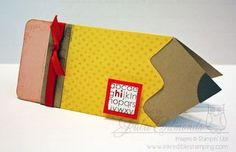 Pencil Card (template available for purchase) by Julie at Inkredible Stamping