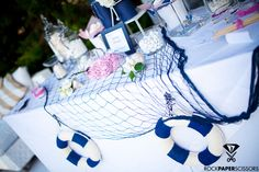 Dessert Table    Nautical Chic Wedding by RockPaperScissors (www.rpsevents.) // Photography by Fiorello Photography (http://www.fiorellophotography.com/)