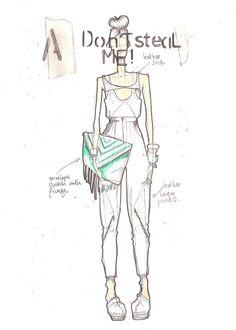 Fashion Sketchbook - fashion design drawing; creative process; fashion portfolio // Fade to Black