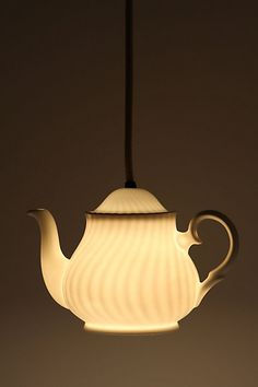 Teapot Pendant Light from Anthropologie #anthrofave #juvenilehalldesign