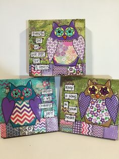 Owl decor Though she be but little she is by heartfeltByRobin