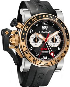 Graham Chronofighter Oversize GMT in steel and gold  www,ChronoSales.com for all your luxury watch needs, sign up for our free newsletter, the new way to buy and sell luxury watches on the internet. #ChronoSales