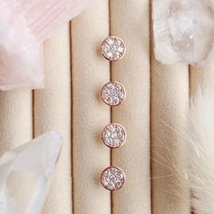 ✨Major restock alert!✨Our LOVE circle studs in rose gold, gold, or sterling silver make for an amazing gift or as an everyday staple for… Semi Precious Gemstones, Precious Metals, Belly Button Rings, Ring Size Guide, Circle Shape, Studs, Rose Gold Plates, Beautiful Earrings, Solid Gold