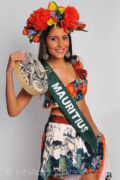 Miss Mauritius - Katia Moochooram posing with her National Costume as part of the activities. Miss Earth 2015 was held on 5 December 2015 at Marx Halle in Vienna, Austria. It was the first time the pageant was held in Europe and outside of Asia. It was also the first back to back victories in Miss Earth history: Angelia Ong of the Philippines crowned by Jamie Herrell of the Philippines. #NationalCostumes #MissEarth2015 #BeautyPageant #BeautiesForACause