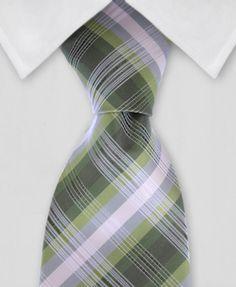 Plaid Tie - Green Plaid Tie