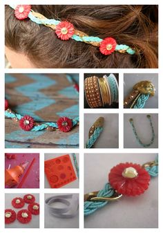DIY Floral Headband / Crown.  It's easy with Mod Melts and Molds.