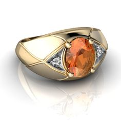 Mens Rings-Fire Opal