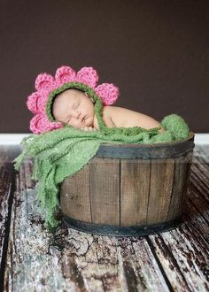 Touca Flor De Crochê - Rosa - Margarida - Girassol - Violeta (fotografia newborn)