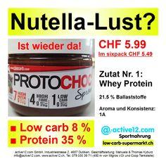 Nutella-Lust? PROTOCHOC Ciaocarb ■ Low carb 8 % ■ high protein 35 % ► IST WIEDER DA, YEAHH!!!, Hammerpreis CHF 5.99 (im sixpack CHF 5.49/St.) #lowcarb #lowcarbs #lowcarbschweiz #lowcarbswitzerland #lowcarblife #lowcarbliving #lowcarbfood #lowcarbdiet #lowcarbhighfat #highprotein #hoherProteingehalt #muskelaufbau #bodybuilding #bodybuildingschweiz #abnehmen #abnehmenschweiz #cheat #fitness #fitnessschweiz #active12 #Nutella #Süssigkeit #süss #sweet #Schokoaufstrich #Ciaocarb #PROTOCHOC