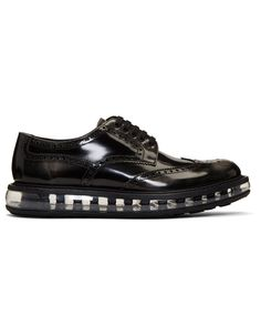PRADA Black Rubber Sole Brogues · VERGLE