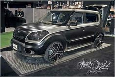 BLACK AND GRAY kia soul