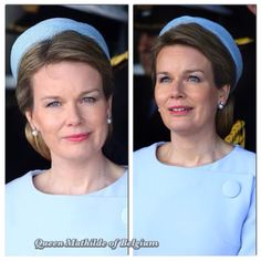 Queen Mathilde wore a hat by Christian Dior  May 7, 2015