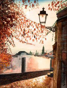 https://flic.kr/p/FFuLqX | Albaicin Autumn | Albaicin, Granada, watercolour