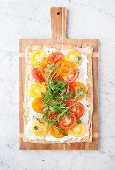 ... herb & goat cheese tomato tart ...