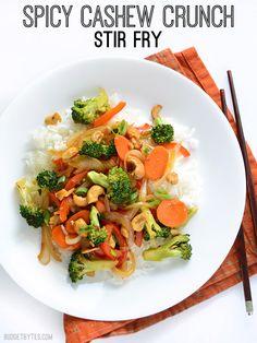 Spicy Cashew Crunch Stir Fry | BudgetBytes