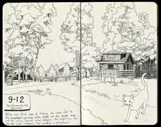 Quackendraw: More Cabot Trail sketchbook pages: Staying at the...
