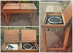 After some searching online I'd like to present the first, I think, school desk record player. Works a charm.
