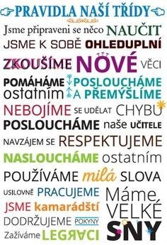 TŘÍDNÍ PRAVIDLA + SEMAFOR :: NAŠE TŘÍDA I School, First Day Of School, Back To School, Classroom Posters, School Psychology, Work Quotes, Team Building, Classroom Management, Projects For Kids