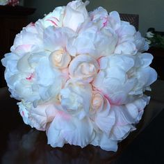 Peony Bouquet in Cream Pink | Wedding Flowers | Hassle Free Shipping