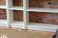 billy bookcase built-in