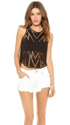 Free People Ginger Top 》 Bought a longer version of this top from Targets Mossimo Collection