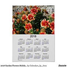 2018 Garden Flowers Holiday Calendar by Janz Poster