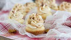 Cookie butter mousse filled sugar cookie cups