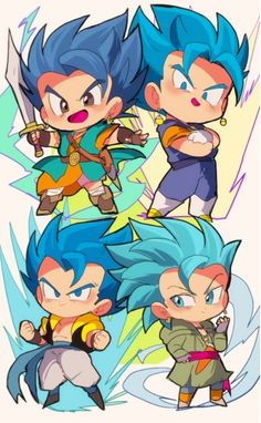 Anime Chibi, Kawaii Anime, Chibi Goku, Chibi Kawaii, Anime Art, Dragon Ball Gt, Gogeta And Vegito, Dope Cartoon Art, Chibi Characters