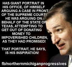 Apparently, Ted Cruz is an inspiration to himself - says a lot about the guy. #UniteBlue