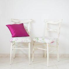 Pareja de sillas tapizadas estilo tropical | Antic&Chic
