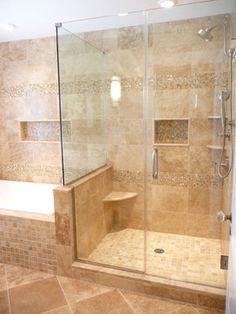 29 Best Travertine Shower Images Master Bathrooms Apartment