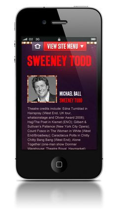 Sweeney Todd mobile website - Responsive Design    ----BTW, Please Visit:  http://artcaffeine.imobileappsys.com