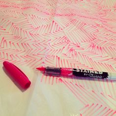 Testing out the new #Sharpie Stained pens at the studio