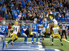 Green Bay Packers tight end Richard Rodgers (82) catches Hail Mary 12/3/15