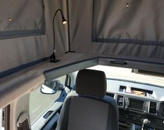 Custom design your own Achtung Camper with any colours and patterns you want! This campervan has a swivel seat and a handy LED reading light. Vw Campervans For Sale, Van Conversion Campervan, Rock And Roll Bed, Used Hyundai, Led Reading Light, Portable Solar Panels, Car Wrap, Leather Design, Camper Van