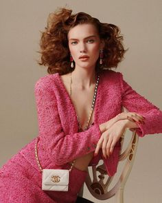 "Premier Model Management on Instagram: ""Think pink 🎀 @penelope.ternes Perfect PENELOPE is giving us Dynasty realness in this #chanel special for @tushmagazine 📸 @arminmorbach 👗…"" Chanel Beauty, Celebrity Makeup, Hair Inspiration, High Fashion, Photoshoot, Blazer, Celebrities, Unique, Model"