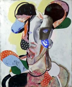 """Saatchi Online Artist: pascal marlin; Assemblage / Collage, 2012, Mixed Media """"portrait"""""""