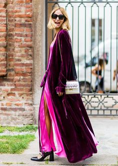 The 15 Most Elaborate Looks From Milan Fashion Week's Streets via @WhoWhatWearUK