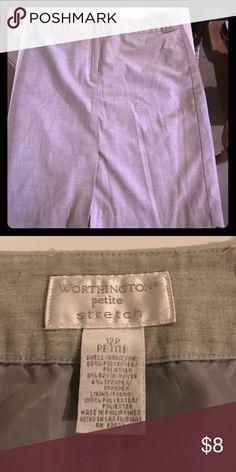 Grey Pencil Skirt Grey Pencil Skirt size 12P, good condition Worthington Skirts Pencil