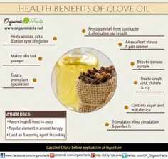 check out this post on the benefits of clove bud oil ...   http://www.insearch4success.com/benefits-of-clove-bud/