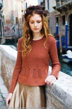 【舒舒翻译】Tre Archi 套头衫[Louisa Harding 11, Venezia Una Volta] - 舒舒爱折腾 - 上班折腾打印机,下班奶娃打毛衣