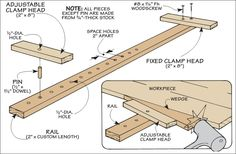 There are times when you just don't have enough clamps. Here's an easy-to-build clamp that you can build from scrap that will work great f...