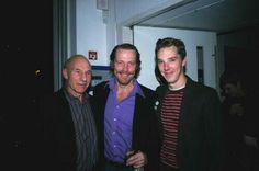 Sir Patrick Stewart and Benedict Cumberbatch long ago .....