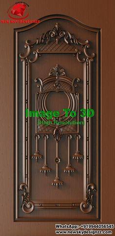 3d Design, House Design, Wooden Main Door Design, Wood Doors, Columns, Exterior Design, Cnc, Door Handles, Stairs